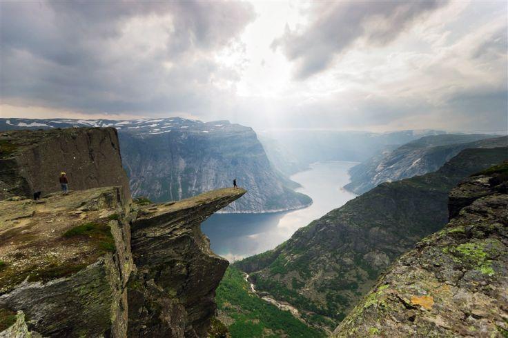 La Trolltunga au dessus du Hardangerfjord - Norvège